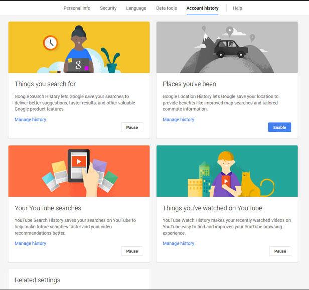 Google Account History