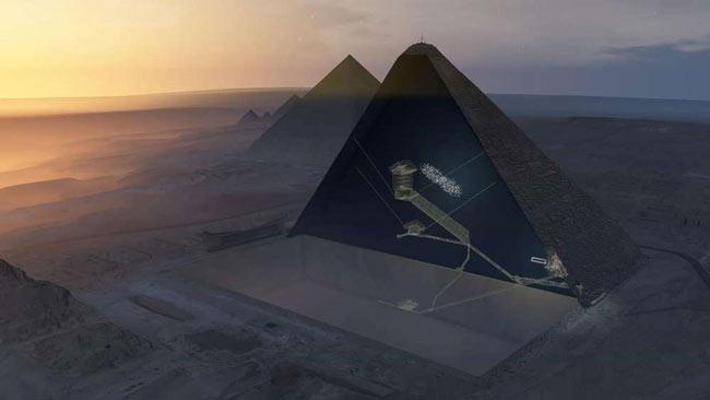 O cavitate necunoscută în interiorul piramidei lui Cheops