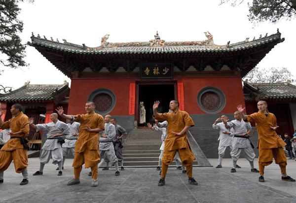 Templul Shaolin din provincia Henan